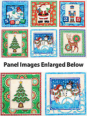 "Christmas Pictures Panel - 43"" x 24"""