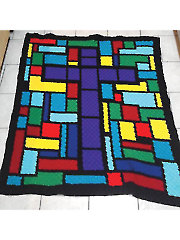 Corner to Corner Stained Glass Afghan