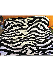 Corner-to-Corner Zebra Afghan