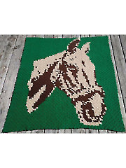 Corner-to-Corner Horse Afghan Crochet Pattern