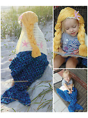 Mermaid Hooded Blanket Crochet Pattern
