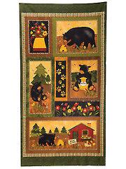 "Bear Paws Panel - 22"" x 43"""