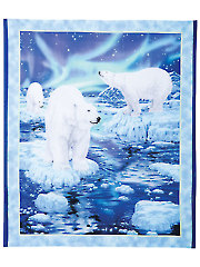"Northern Lights Polar Bear Digital Panel - 36"" x 42"""