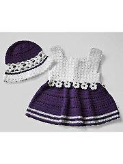 Violet Blooms Crochet Set