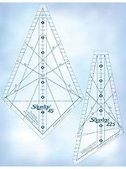 "Squedge 12"" Ruler Set - 22 1/2 & 45 Degrees"