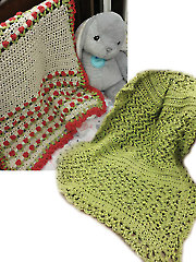 Rose Bud and Sweet Pea Crochet Blankets