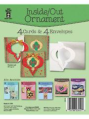 Inside Out Ornament Die Cut Cards & Envelopes 4/Pkg.