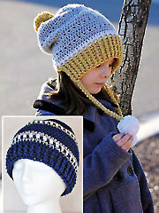 Gracie & Snowy Day Hat Crochet Set