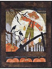 Pumpkins 4 Sale Window Pane Quilt Pattern or Embellishment Set