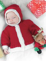 3803: Santa Jacket & Hat Knit Pattern