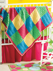 Bright Baby Squares Knit Pattern
