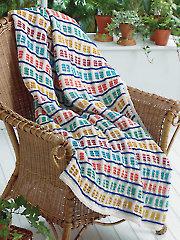 Dashing Hues Blanket Knit Pattern