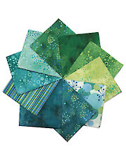 Cosmic Fusion Green/Teal Fat Quarters - 10/pkg.