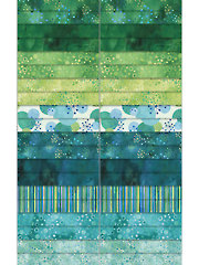 Cosmic Fusion Green/Teal Jelly Roll - 40/pkg.