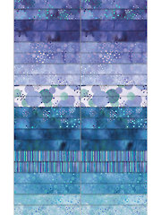 Cosmic Fusion Purple/Blue Jelly Roll - 40/pkg.