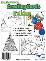 Creative Coloring Holiday Greeting Cards & Envelopes
