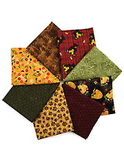 Bear Paws Fat Quarters - 8/pkg.