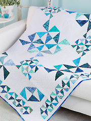 Triangles in Motion Quilt Pattern