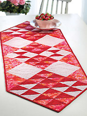 Scarlet Bows Table Runner Pattern
