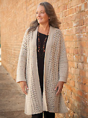 Crisscross Sweater Jacket Crochet Pattern