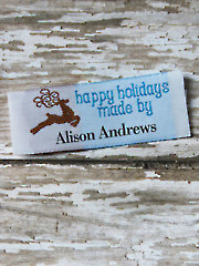 Reindeer Precut Personalized Woven Label - 20/pkg.