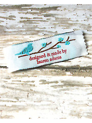 Bird on a Branch Precut Personalized Woven Label - 20/pkg.