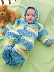 Hooded Baby Gown Crochet Pattern