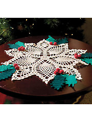 Pineapple Holly Doily