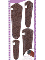 Scissor Sheath Shiny Brown - 4/pkg.