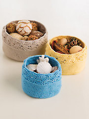 ANNIE'S SIGNATURE DESIGNS: Shell-Stitch Nesting Baskets Crochet Pattern