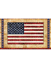 "Parchment American Flag Panel - 40"" x 24"""