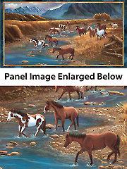 "Mountain Horse Panel - 42"" x 22 1/2"""
