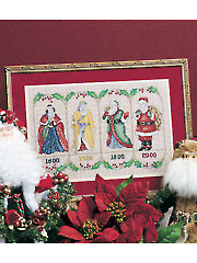 Centuries of Santa Counted Cross Stitch Pattern