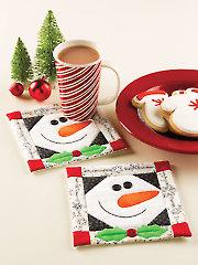 Merry Snowman Mug Rug Pattern