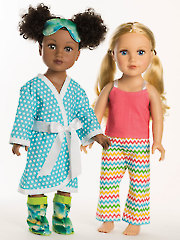 """18"""" Doll Clothes Fabric Panel & Pattern: Sleepover"""