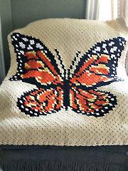 Corner-to-Corner Butterfly Afghan Crochet Pattern