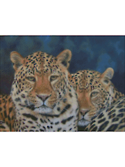 2 Leopards Counted Cross Stitch