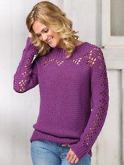 ANNIE'S SIGNATURE DESIGNS: Stamford Pullover Crochet Pattern