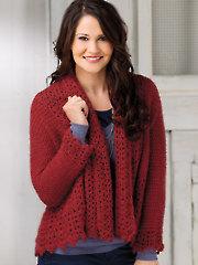 Crescent Lace Cardi Crochet Pattern