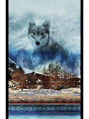 "Dakota Wolf Digital Panel - 27"" x 44"""