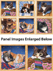 "Sew Curious Cat Panel - 24"" x 44"""