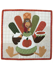 Turkey & Trimmings Quilt Pattern - November