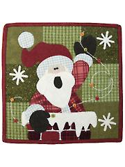 Rooftop Santa Quilt Pattern - December