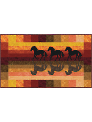 Horses at Sunset Quilt Pattern