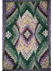 Floral Bouquet Bargello Quilt Pattern