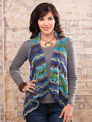 Stormy Weather Vest Crochet Pattern