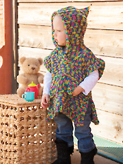 ANNIE'S SIGNATURE DESIGNS: Candy Brights Hooded Poncho Crochet Pattern