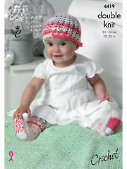 King Cole's Crochet Baby Set