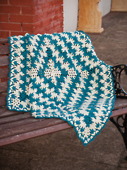 Puff Pike Stitch Throw Crochet Pattern