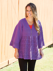 No Seams Waterfall Cardigan Crochet Pattern